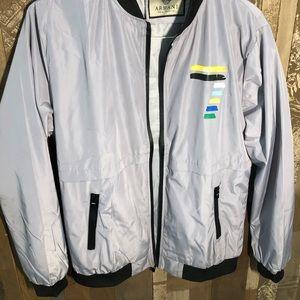 Armani reflective bomber jacket